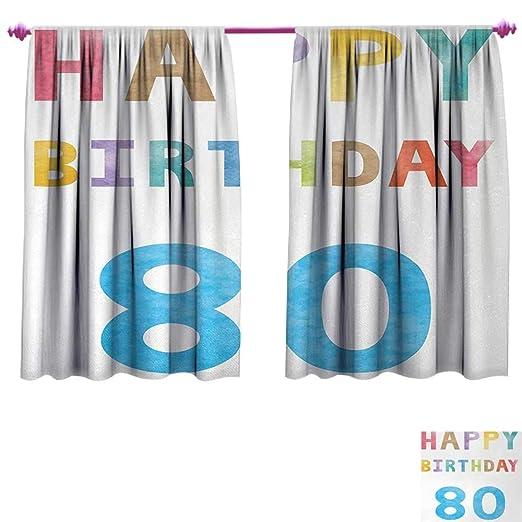 Anniutwo Cortinas Decorativas para cumpleaños número 75 de ...