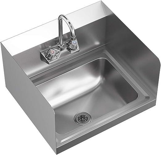 Amazon.com: Giantex - Lavabo de mano de acero inoxidable con ...
