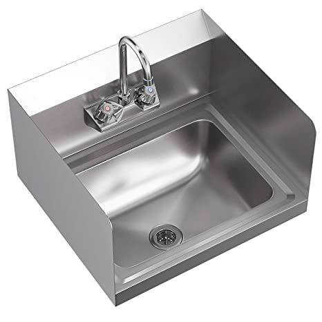 Amazon.com: Giantex - Lavabo de mano de acero inoxidable con ...