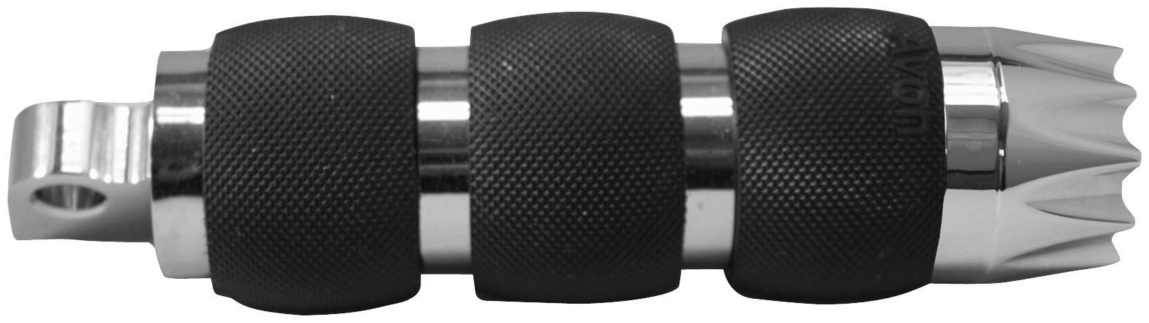 Avon Grips Chrome Air Cushion Excalibur Folding Footpegs FP-AIR-90-CH-EX
