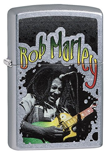 Zippo Personalized Customized Message Engraved on Backside Bob Marley Zippo Indoor Outdoor Windproof Lighter