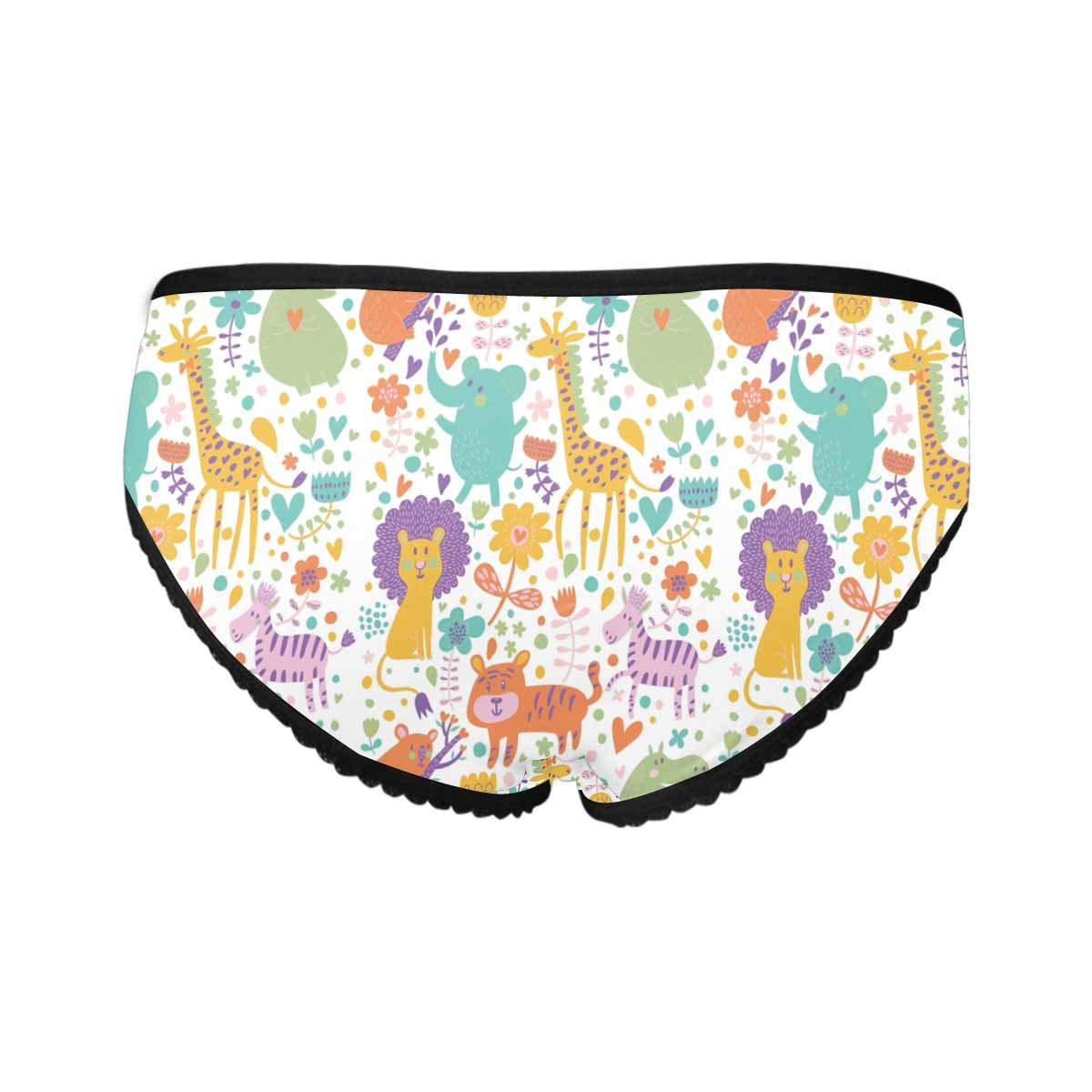 XS-XXL INTERESTPRINT Womens All Over Print High-Cut Briefs