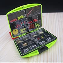 Rock Multifunctional FISHING TACKLE BOX Fishing Hooks Spoon Sinker Accessories Box Surf Casting Swivel Jig Tools Set