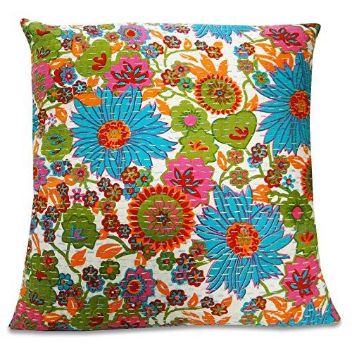 Indian Kantha Throw Sofa Pillow Cover Bohemian Pillow Case  : 61fYdqbL3gL from www.desertcart.ae size 500 x 500 jpeg 99kB