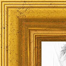 "ArtToFrames Wom-16x20-B-847-2186-1 inch Foil with Steps Wood Picture Frame, 16 x 20"", Gold"