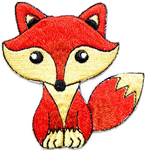 Diy Costumes Fox (Baby Fox Wolf Dog Pet Cartoon Kid Baby Girl Jacket T-shirt Patch Sew Iron on Embroidered Sign Badge Costume Clothing DIY)
