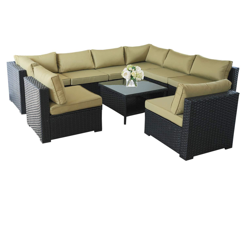 Amazon.com: VALITA - Juego de muebles de mimbre de ...