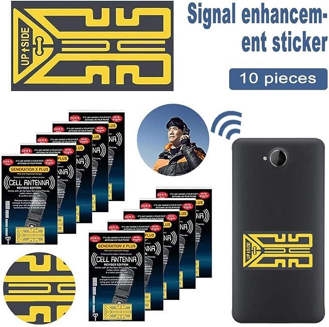 10 pegatinas de mejora de señal de teléfono móvil, amplificador de señal de teléfono, amplificadores de antena de teléfono móvil, mejora de señal, ...