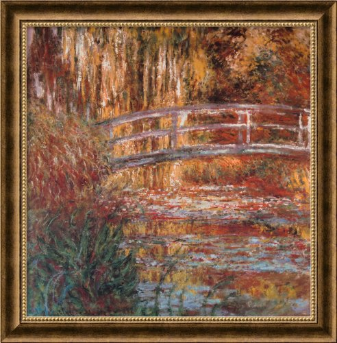 1900's Art (Framed Art Print, 'The Water-Lily Pond, 1900' by Claude Monet: Outer Size 27 x 27