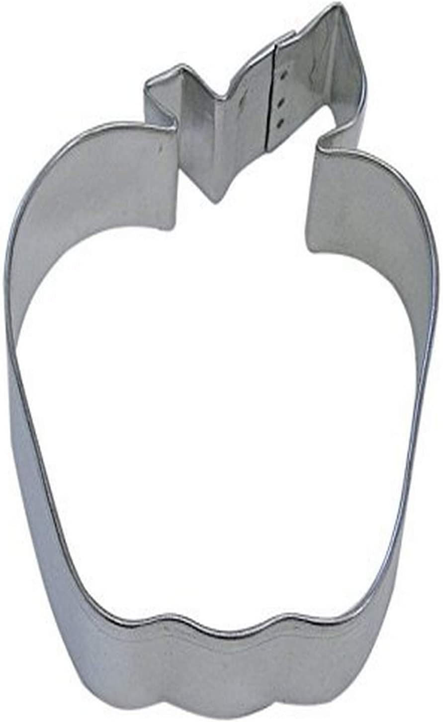 "R&M Apple 4"" Cookie Cutter in Durable, Economical, Tinplated Steel"