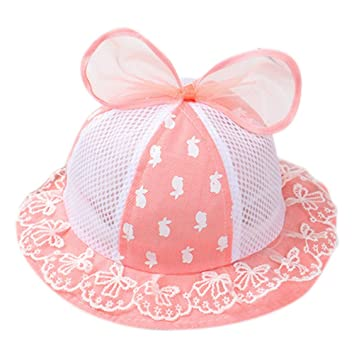 d91b52fde71 Cdet 1x Bucket Hat Lace Bowknot Beach Summer Hat Cute Infant Toddler Visor Sun  Cap Breathable