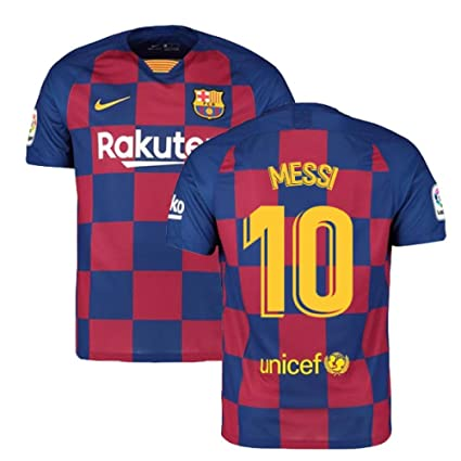 free shipping fafc7 6497f Amazon.com : 2019-2020 Barcelona Home Nike Football Soccer T ...