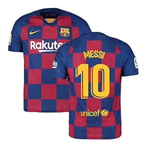 wholesale dealer 10a2b 98f99 2019-2020 Barcelona Home Nike Football Soccer T-Shirt (Lionel Messi 10)