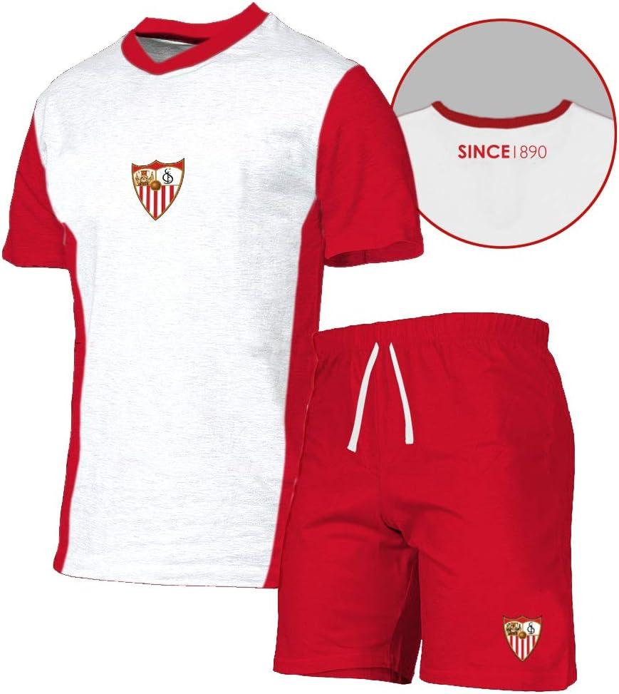 Sevilla F.C. Pijtsv Pijama Corto, Unisex Adulto: Amazon.es ...