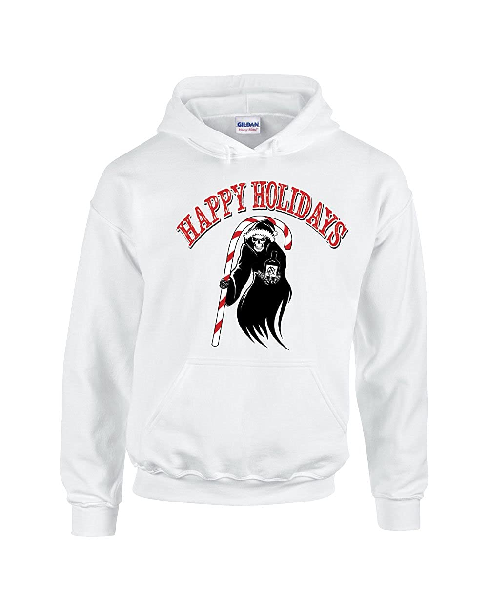 Hoodies for Women Men Happy Holiday Witch and Candy Sticks Xmas Ugly Sweatshirts