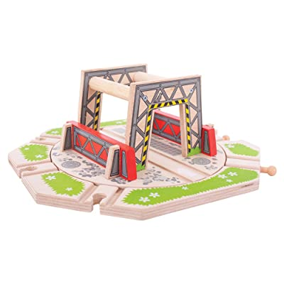 Bigjigs Rail Industrial Turntable for Train Set: Toys & Games