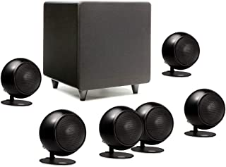 product image for Orb Audio: Mod1 Mini 5.1 Plus Home Theater Speaker System - Surround Sound System - Includes 6 Orbs and 9'' Subwoofer - Dialogue Enhancing Center Channel - Handmade in the US