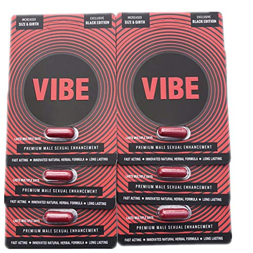 (New Black VIBE Male Sex Enhancement Pills Strong Effects Increase Libido)