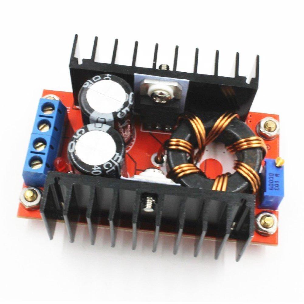 Gowoops 2pcs 150w Dc 10 32v To 12 35v Step Up Boost Electronics Technology 5vdc 12vdc Lt1070 Converter Circuit Module Adjustable Power Voltage