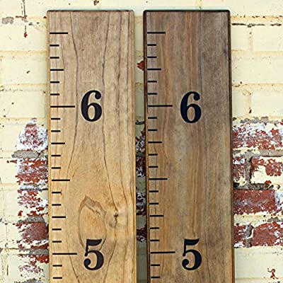 "Little Acorns DIY Vinyl Growth Chart Ruler Decal Kit - Material: Vinyl, matte finish and wood not included Kit Contents: 72"" of measuring lines, the #s 1-6 (2.5"" tall) and easy to follow instructions for the entire project Easy to Apply: Measuring lines come as six decal strips to ensure a straight application - living-room-decor, living-room, home-decor - 61fYi0BHnlL. SS400  -"