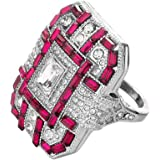 JUSTSELL Magic Rings for Wome,Fashion Women Crystal Silver Cubic Zirconia Band Ring Jewelry Gift