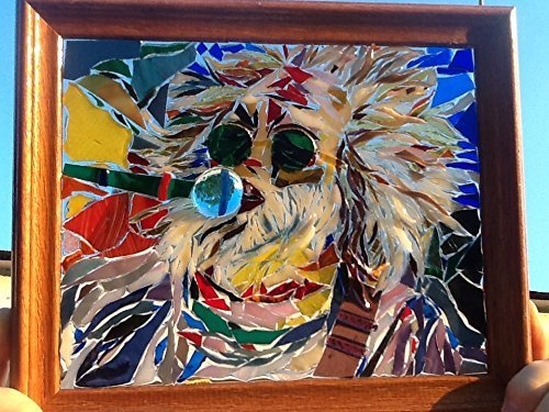 Jerry Garcia Art Window Art Sun Catcher Grateful Dead by Mountain Mosaics