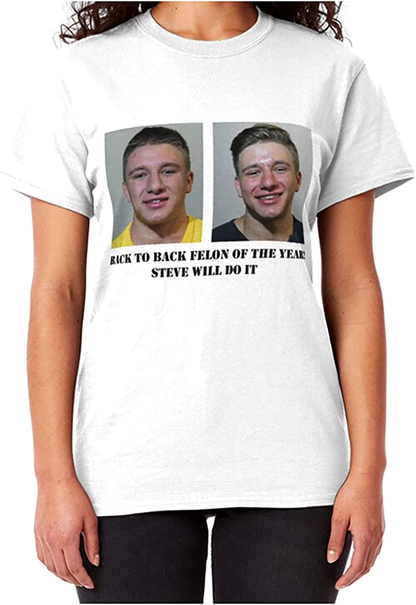 Steve Will Do It Mug Shot Classic Tshirt Amazon Com His name is stephen deleonardis stevewilldoit father's name is under review and mother unknown at this time. steve will do it mug shot classic tshirt