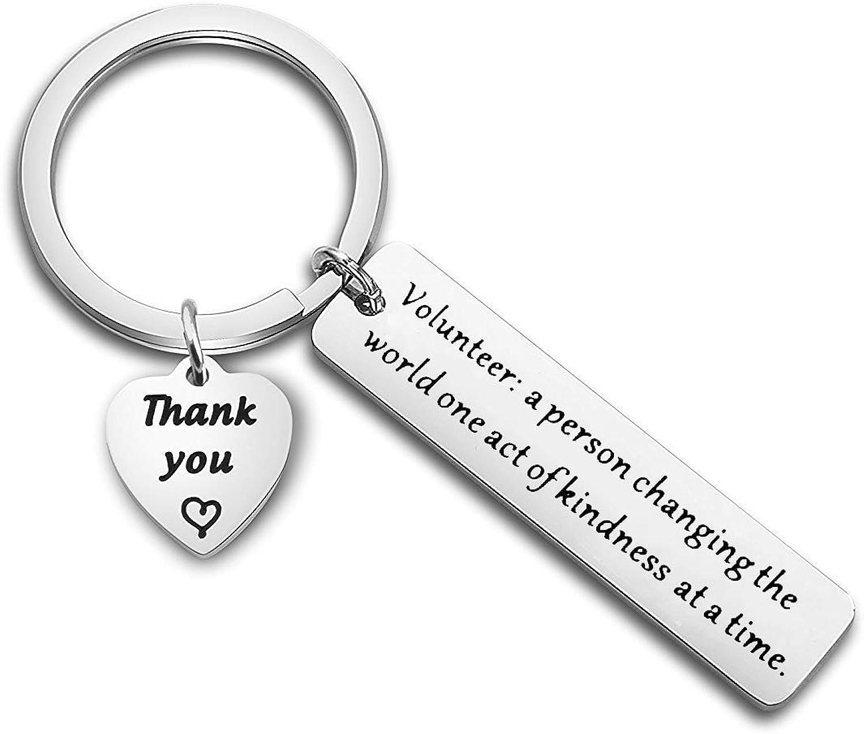 MYOSPARK Volunteer Appreciation Gift Volunteer Keychain Thank You Gift for Volunteer Social Worker Gift