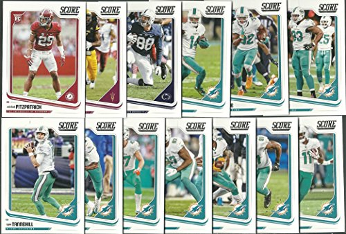 (2018 Panini Score Football Miami Dolphins Team Set 13 Cards W/Drafted Rookies)
