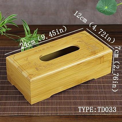 Producto nuevo 8 tipos Tejido cajas natural bambú toalla de papel caja de pañuelos cover con