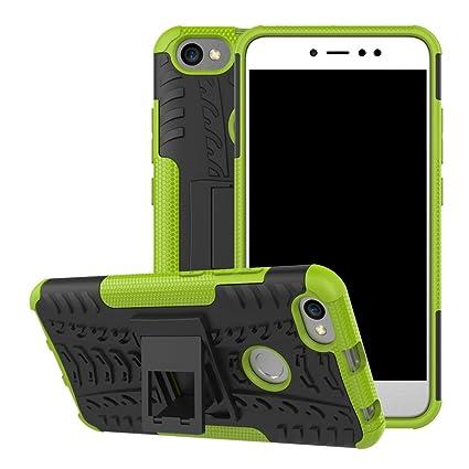 Funda Xiaomi Redmi Note 5A Prime, Xiaomi Redmi Note 5A Carcasa Protectora Antigolpes Armadura Doble Capas a Prueba de Choques Caída Protección Robusto ...