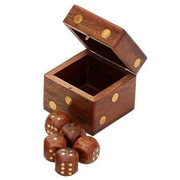 Amazon Com Dice In Dice Souvnear 2 4 Wooden Square Dice Box With