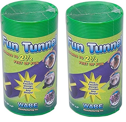 (2 Pack) Ware Manufacturing Fun Tunnels Play Tube for Small Pets, 30 X 4 Inches Each - Size Medium