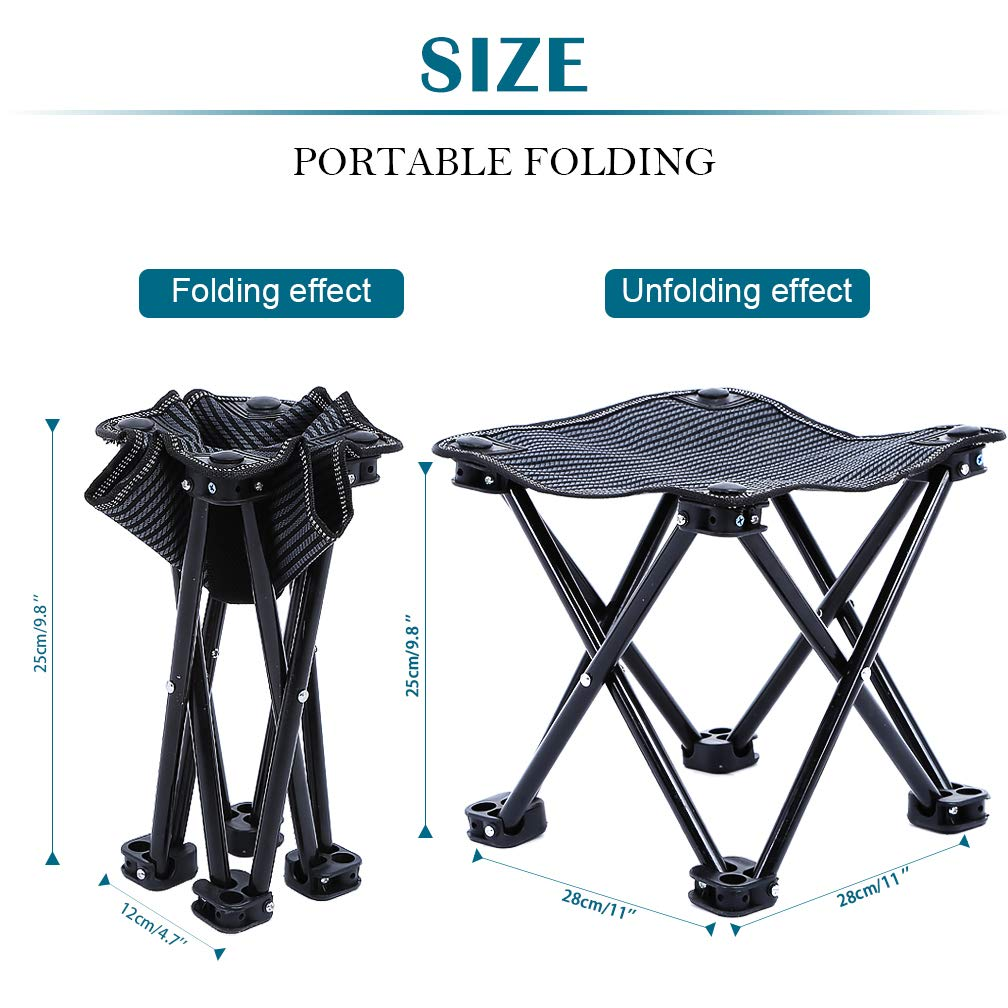 FairyMe Small Folding Chair Portable Camp Stool for Camping,Hiking,Fishing Travelling,Gardening,Beach Chairs by FairyMe (Image #2)