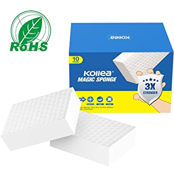 Kollea Esponjas Mágicas, 10 Pack Borrador Mágico sin Chemical, Magic Sponge para la Limpieza