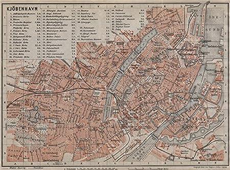 Amazon Com Copenhagen Kobenhavn Kobenhavn Antique Town City