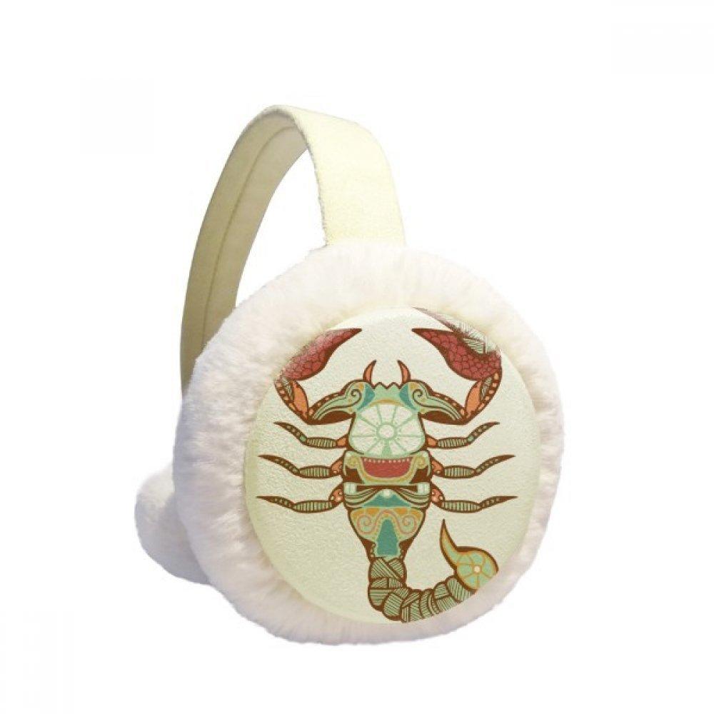 Scorpio Constellation Zodiac Symbol Winter Earmuffs Ear Warmers Faux Fur Foldable Plush Outdoor Gift