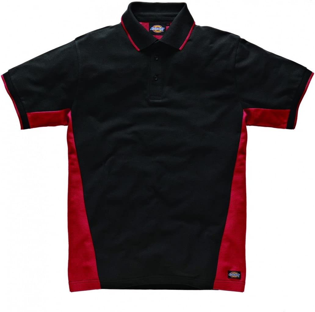 Dickies Two Tone Polo Red//Black M