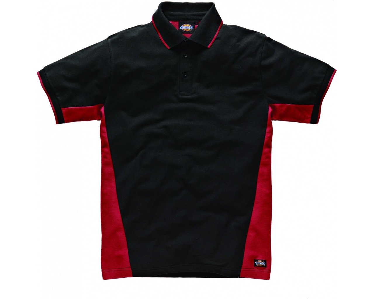 Dickies Two Tone Polo Grey//Black XL