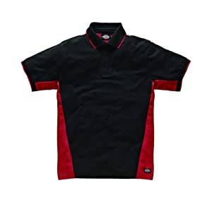 Dickies SH2004 RDBXL Two Tone Polo Taille XL Rouge/Noir