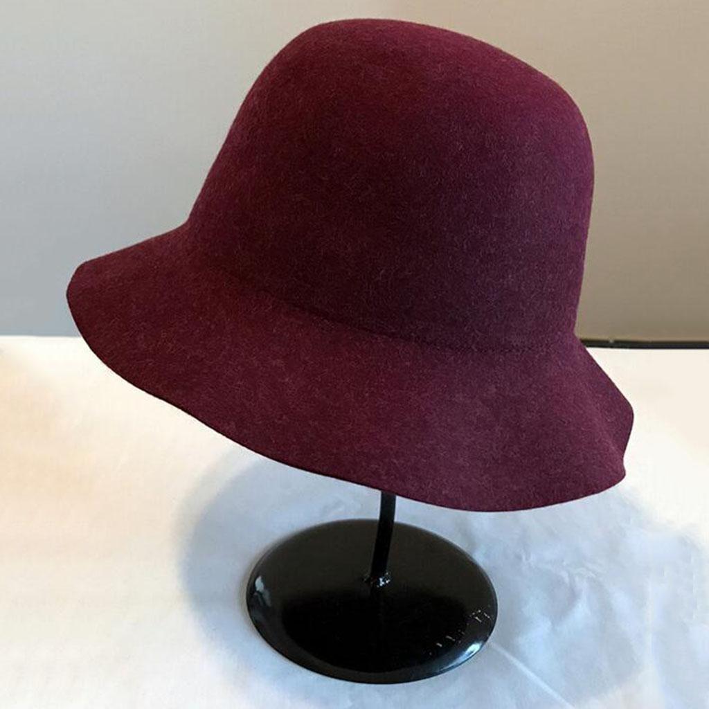 Otoño e invierno Color sólido Retro Sombrero de fieltro Moda sombrero , red