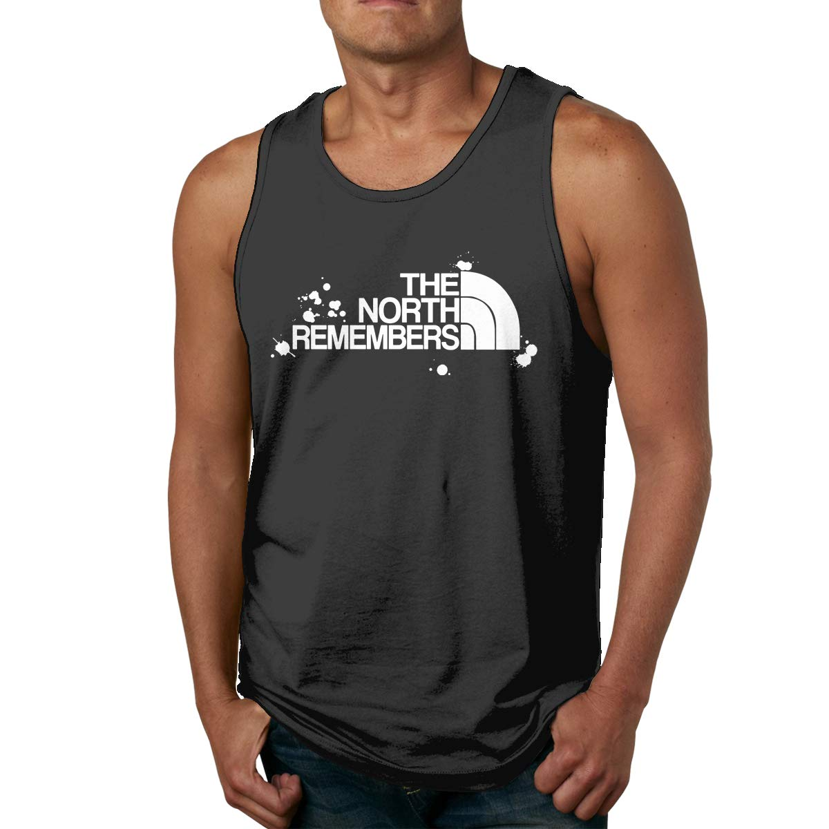 Mens Tank Tops The North Remembers Splash Shirts Summer Funny Tees Muscle T Shirt Top