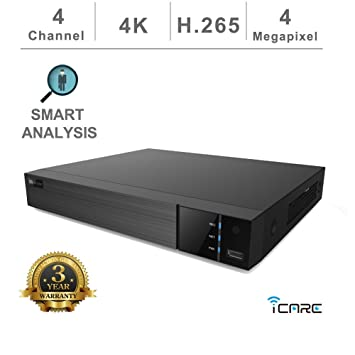 Amazon com : iCare 4 Channel ONVIF NVR, H 265/H 264, Real Time