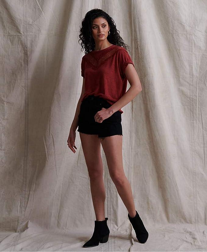 Haut Femme Superdry Chevron Lace T-Shirt
