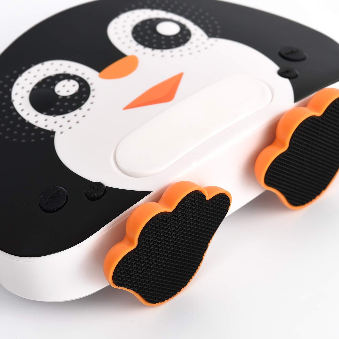 HowQ Outdoor Toys Karaoke Machine , Portable Kids Karaoke Bluetooth Speaker Wireless Cartoon Speaker for Kids for Indoor Toys Travel Activities with Microphone Penguin Karaoke Machine(Black-White) by HowQ (Image #5)