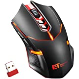 Wireless Mouse, Patuoxun 2.4G Cordless Noiseless PC Laptop Computer Gaming Mice for Windows Macbook