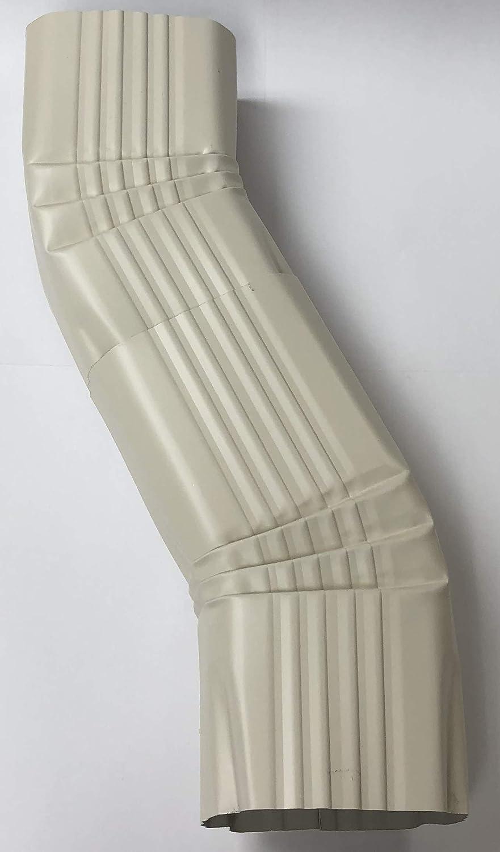 2x3 B, HIGH GLOSS WHITE Aluminum Offset Downspout Elbow