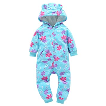 Baby & Toddler Clothing Reasonable 9-12 Months Hooded Romper Baby Girls