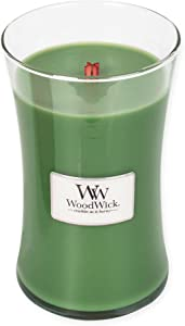 WoodWick Evergreen Hourglass Christmas Large Candle 21.5 Oz