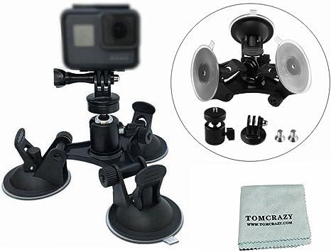 Montaje de la succión ventana de cristal negro fotos 1 2 3 4 Taza de Cámara Coche Hero para GoPro